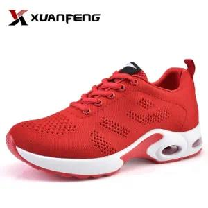 Colorful Ladies Flyknit Upper Sneakers Running Sport Shoes