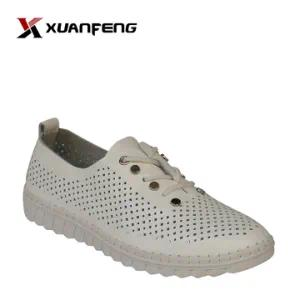 Popular Ladies Action Leather Flat Shoes