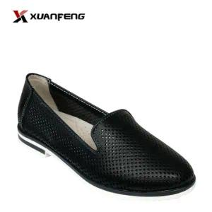 Comfortable Lady′s Leather Loafers Shoes