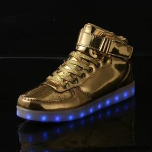 Fashion Chargeable LED Lights Casual Shoes for Children
