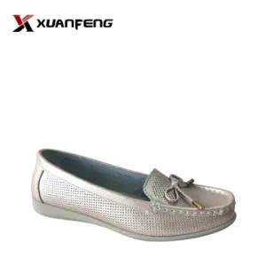 Fashion Lady′s Summer Leather Leisure Shoes