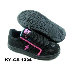 China Child Casual Skateboard Shoes PU Leather Rb Sole