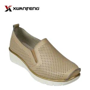Popular Comfortable Women′s Loafer Leather Shoes